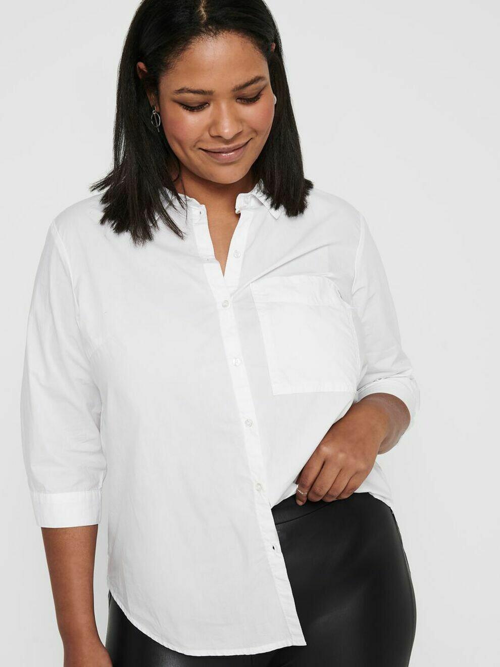 Lang hvid skjorte fra Carmakoma!