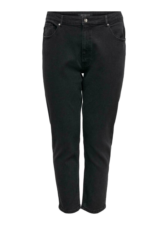 Sorte mom-jeans fra Carmakoma.