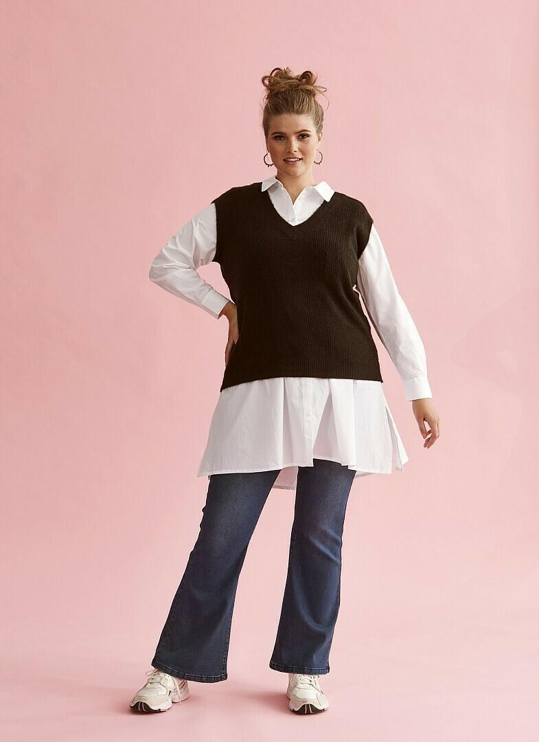 Lang hvid skjorte fra Zhenzi