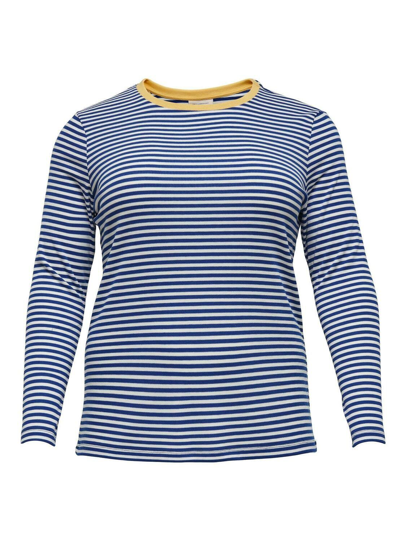 Stribet jersey bluse fra Carmakoma