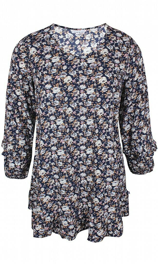 Feminin tunika med print fra Zhenzi!