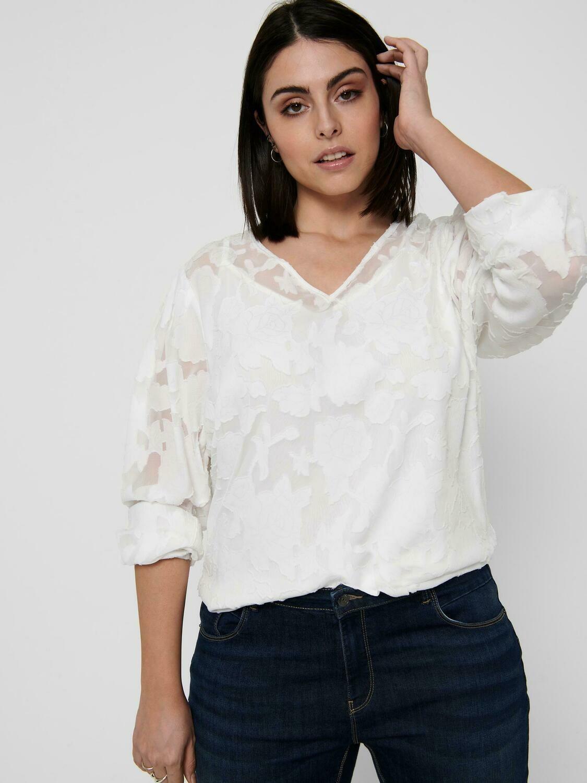 Smuk transparent bluse fra Carmakoma