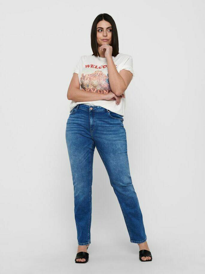 Fede jeans med lige ben fra Only Carmakoma