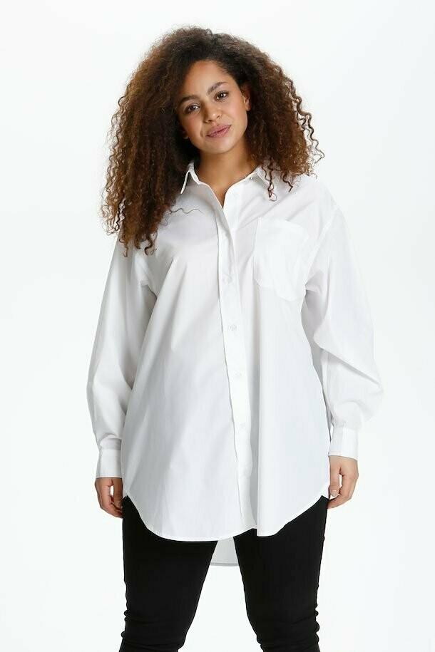 Lang hvid skjorte fra Kaffe Curve