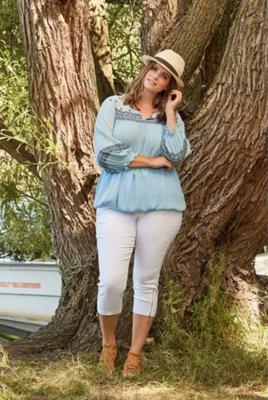 Boheme-inspireret bluse med elastikkant fra Zhenzi!