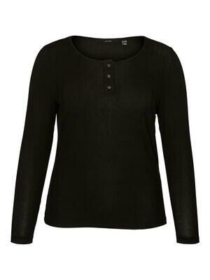 Enkel bluse med knapper fra Vero Moda Curve