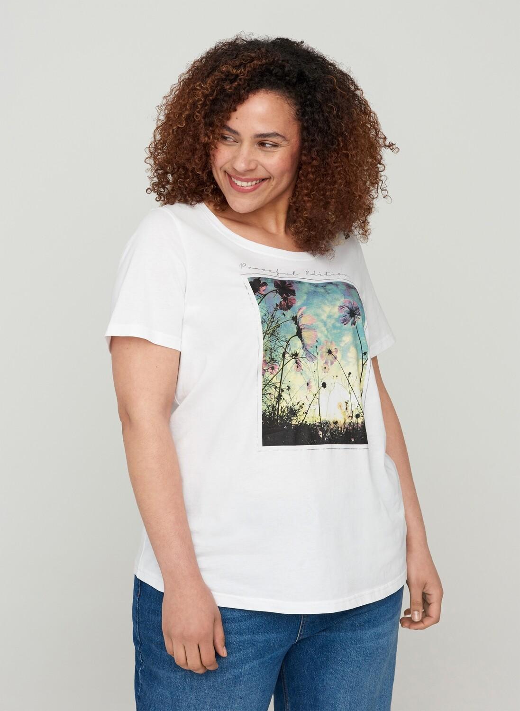 Smart t-shirt med print fra Zizzi