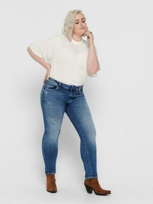 Smarte forvasket jeans fra Carmakoma