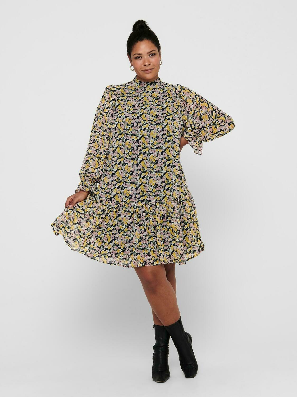Fin kjole med peplum bund fra Carmakoma