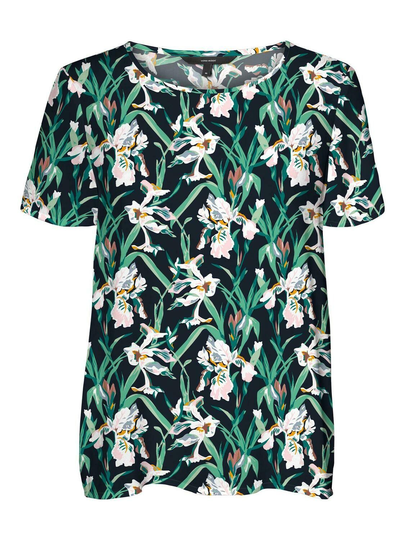 Blomstret t-shirt fra Vero Moda Curve