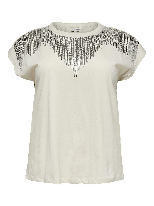 Pæn t-shirt med palietter fra Carmakoma