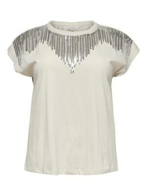 Pæn t-shirt med palieter fra Carmakoma