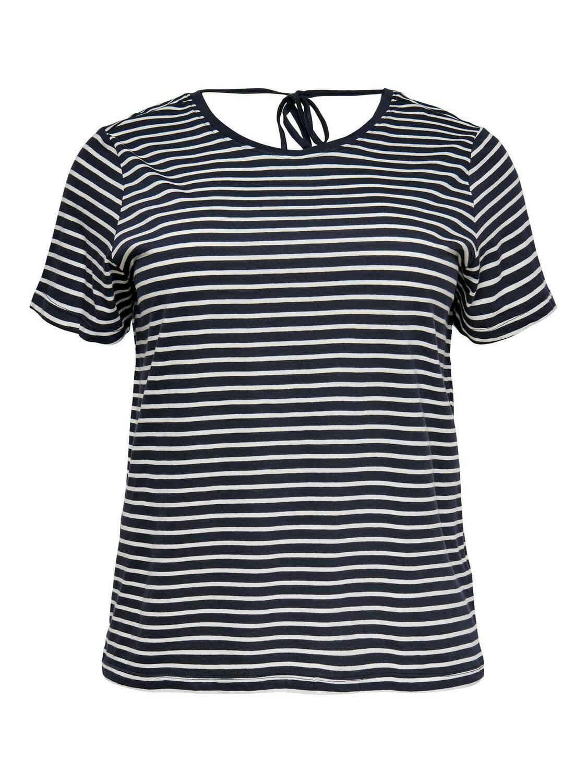 T-shirt med bindebånd i nakken fra Carmakoma