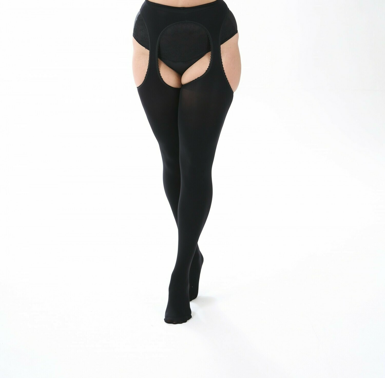 Bodyfree strømpebukser med strømpeholder-look fra Pamela Mann.