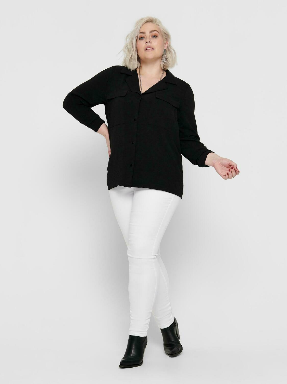 Hvide slim fit jeans fra Carmakoma