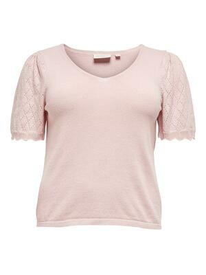 Sød strik t-shirt med detaljeret ærmer fra Carmakoma