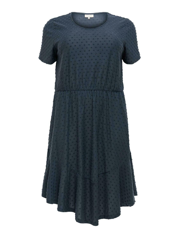 Lang kjole med struktur fra Carmakoma