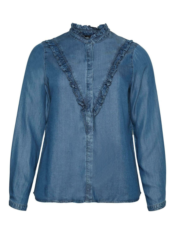 Sød denim skjorte fra Vero Moda Curve