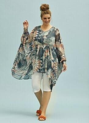 Flot transparent bluse-tunika fra Zhenzi