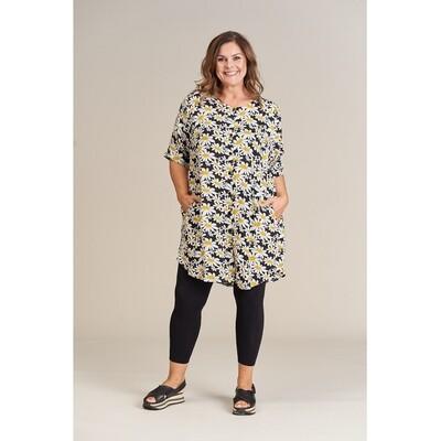 Fin tunika med marguerit print fra Gozzip