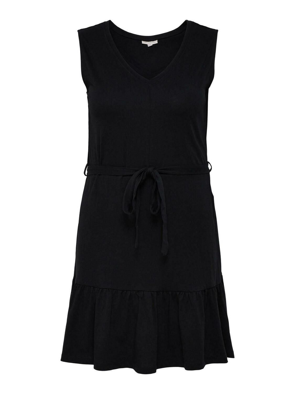 Ærmeløs kjole med bindebånd fra Carmakoma