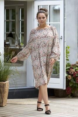 Mønstret kjole med ballonærmer fra Zoey