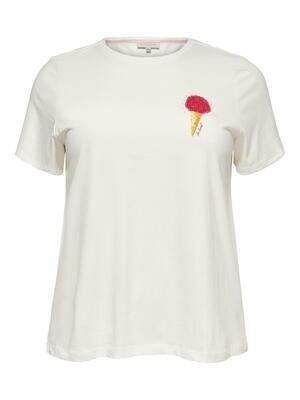 Sød t-shirt med palliet isvaffel fra Carmakoma
