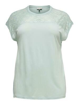 T-shirt med blonde på fronten fra Carmakoma.