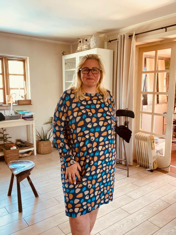 Fin mønstret kjole/tunika fra Cassiopeia