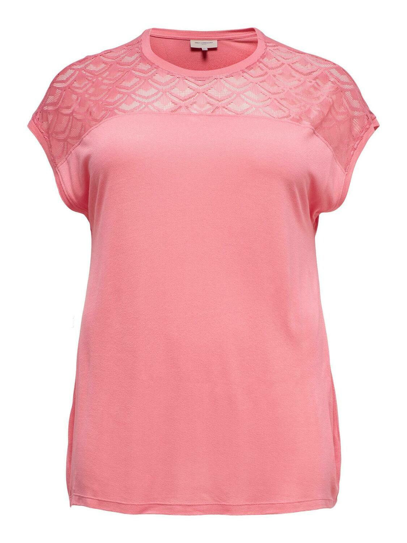 Fin t-shirt med blonde detalje fra ONLY Carmakoma