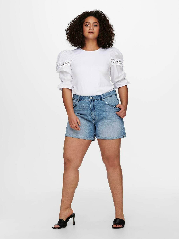 Denim-shorts med høj talje fra Carmakoma