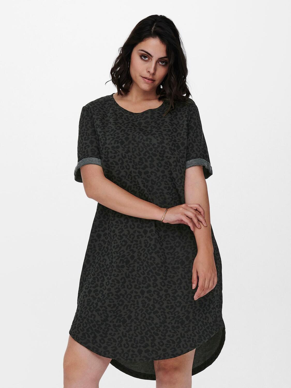 Sød leo printet t-shirt kjole fra Carmakoma