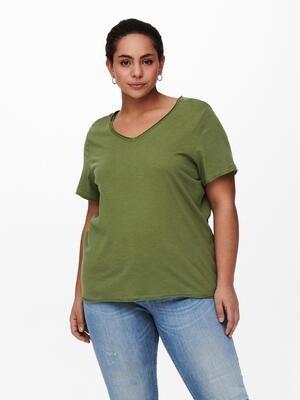 Enkel basis t-shirt fra Only Carmakoma