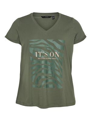 Fin t-shirt med print fra Vero Moda Curve