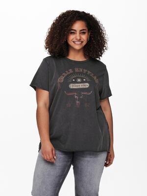 Rå t-shirt med print fra Carmakoma