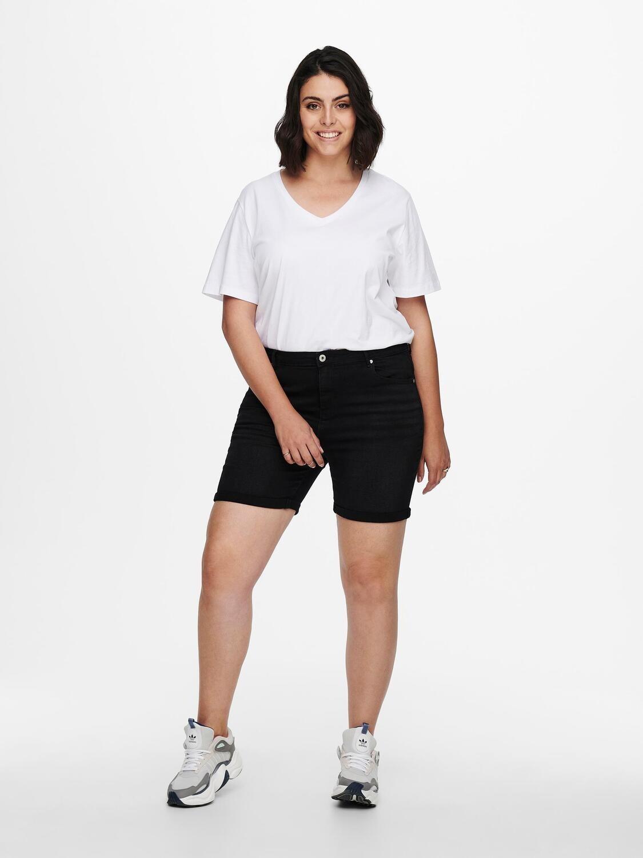 Bløde højtaljet shorts fra Carmakoma