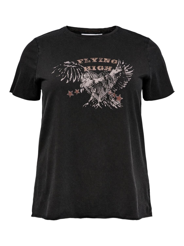 Smart rå t-shirt fra Carmakoma
