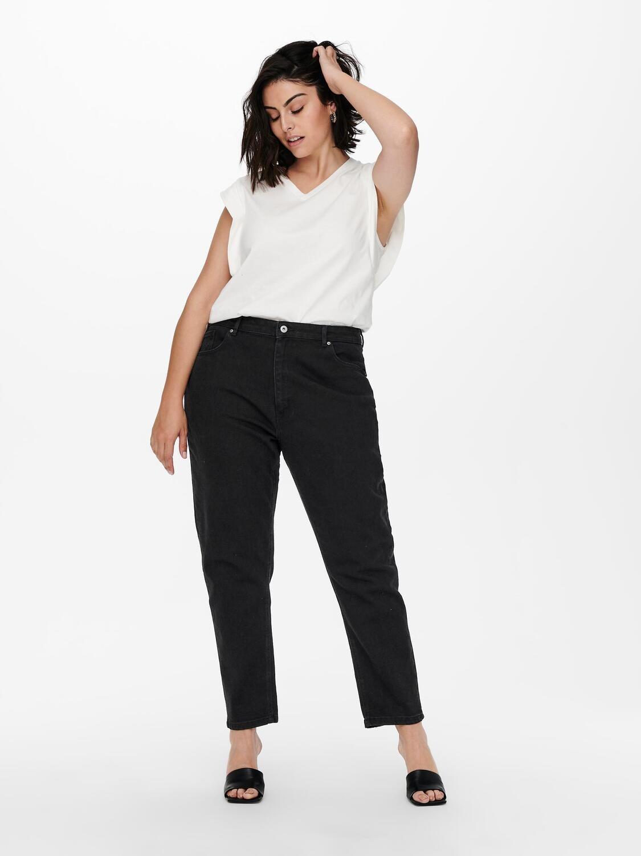 Sorte mom-jeans fra Carmakoma