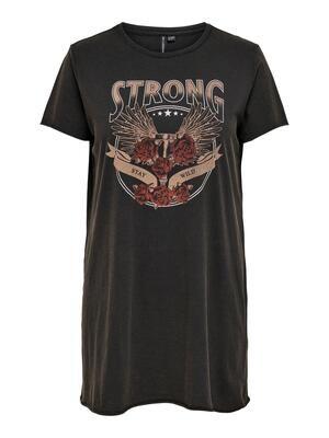 Rå lang T-shirt fra Carmakoma