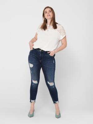 Cool jeans med destroy-detaljer fra Carmakoma
