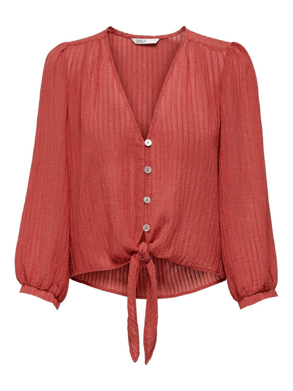Skjorte med knude-detalje fra Carmakoma!