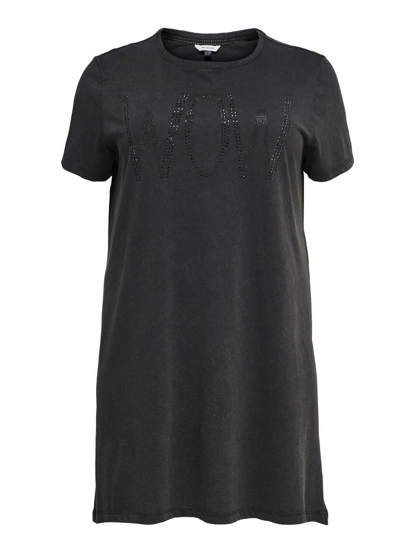 Lang rå t-shirt fra Carmakoma
