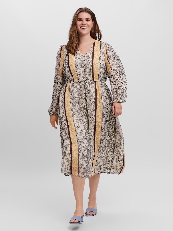 Kjole med volumenærmer fra Vero Moda Curve