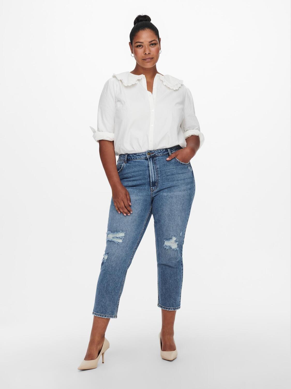 Mom-jeans med slid fra Carmakoma