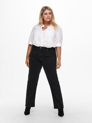 Sorte jeans med brede ben fra Carmakoma