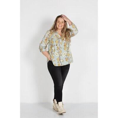 Flot skjorte med bladmønster fra Zoey