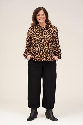 Smart leopard bluse fra Gozzip