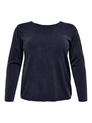 Blød pullover med blonde-detalje fra Carmakoma