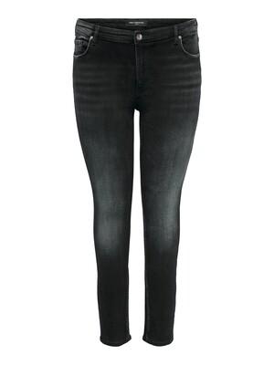 Grå jeans med smalle ben i fra Carmakoma
