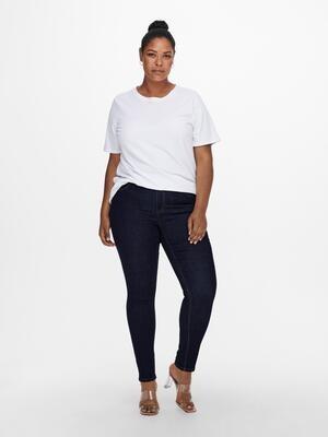 Mørkeblå jeans med smalle ben fra Carmakoma